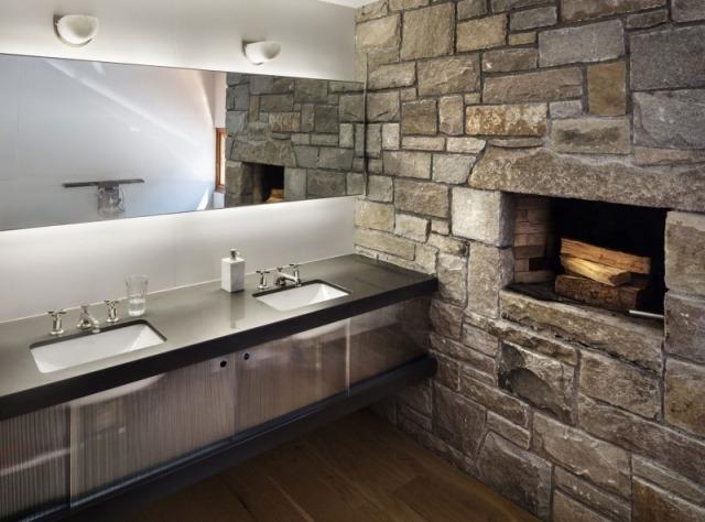 ideen fur wandgestaltung wohnzimmer beleuchtung betonwande - boisholz, Mobel ideea