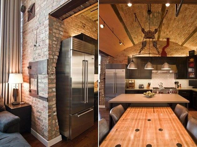 Loft Wohnung  Renovierungsidee im industriellen Stil