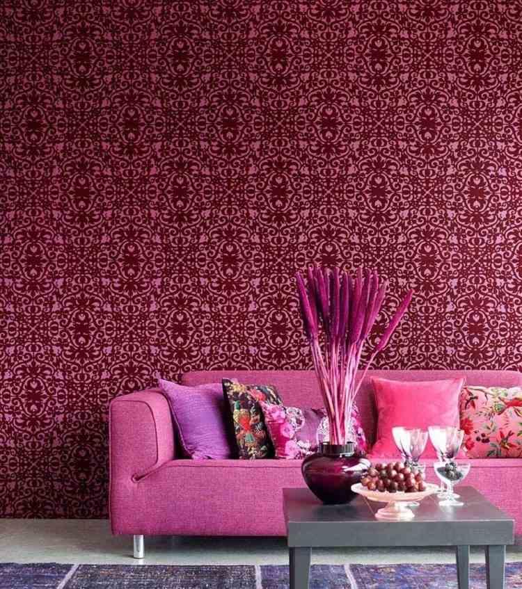85 Wohnzimmer Tapeten Ideen  Florale und Barock Muster