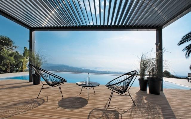 pergola aluminium lamellen - boisholz, Terrassen ideen