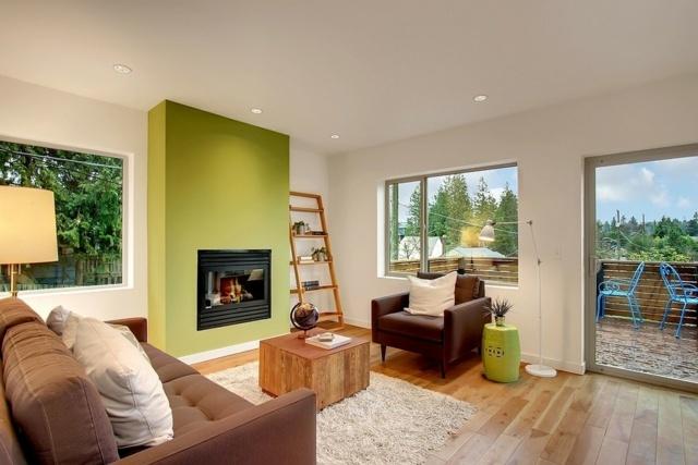 wohnzimmer ideen wandgestaltung grun   ifmore