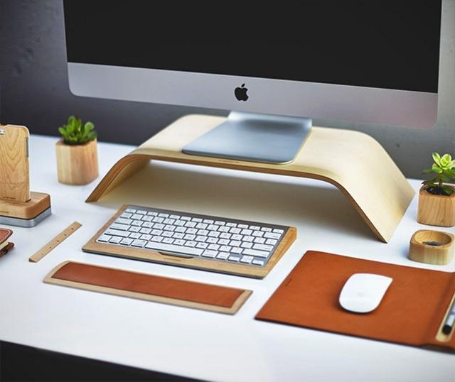 Schreibtisch Zubehr Mauspad TastaturablageCo aus Holz