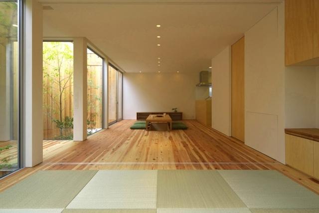 Modernminimalistisches Haus mit Garten in Osaka Japan
