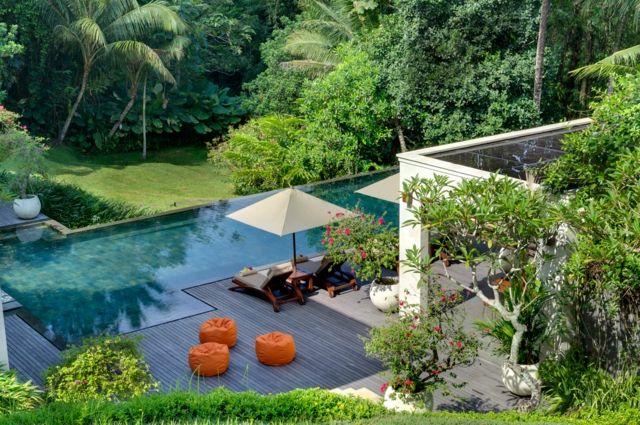 sitzecken garten holz im garten pool garten kleiner garten mit, Hause und garten