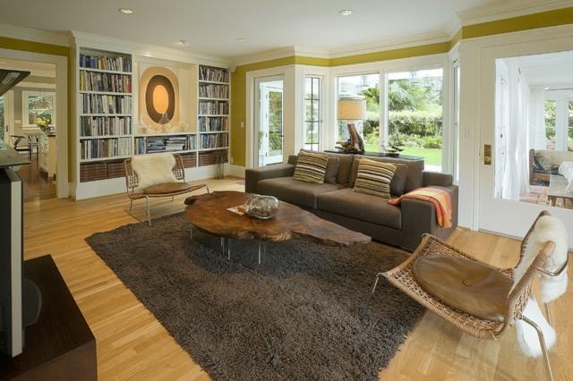 Wohnzimmer Farbgestaltung  23 Ideen in Grn