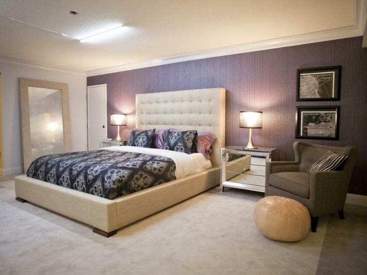 Farbgestaltung fr Schlafzimmer  das geheimnisvolle Lila