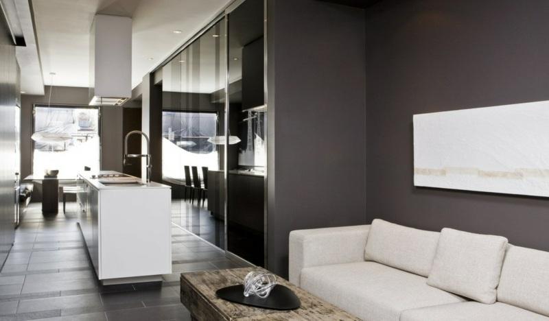 Farbideen frs Wohnzimmer  Wnde grau streichen