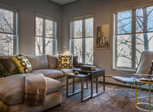 deko ideen farbideen wohnzimmer grau waende creme gelbe akzente ... - Creme Graues Wohnzimmer