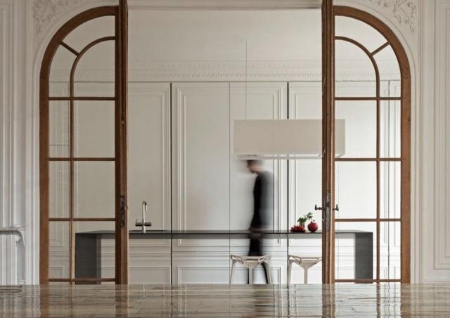 Moderne im Schrank versteckte Kche von i29 Designstudio