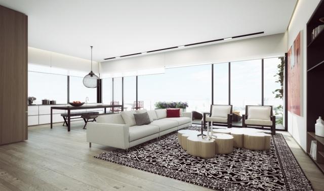 Luxus PenthouseWohnungen visualisiert von Ando Studio