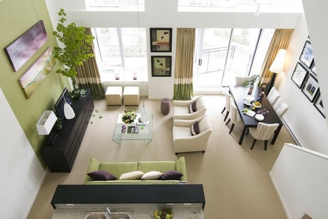 Wohnzimmer Farbgestaltung  28 Ideen in Grn