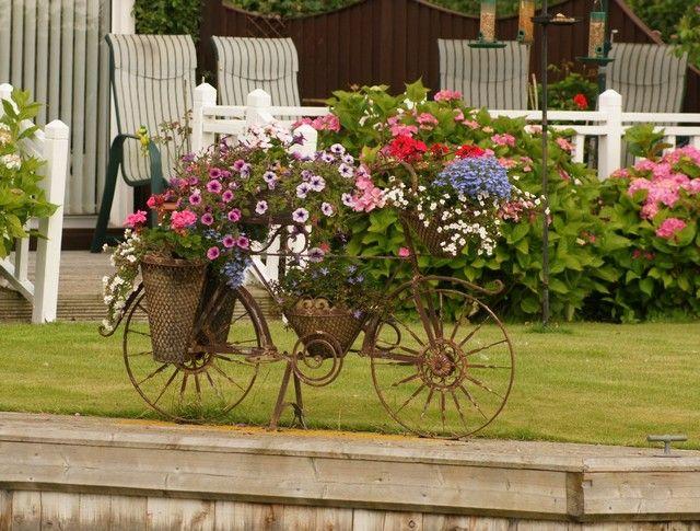 Kreative Gartenideen U2013Deko Aus Altem Fahrrad Selber Machen