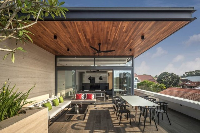 terrassengestaltung mit holz 25 inspirierende ideen | sichtschutz, Gartengerate ideen
