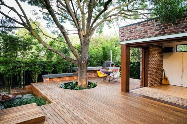 terrassengestaltung mit holz 25 inspirierende ideen | designmore, Gartengerate ideen