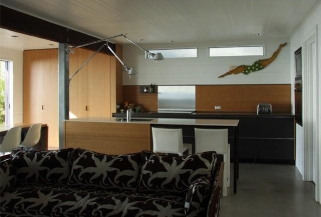 kuche ideen kuchenruckwand gestaltung l » terrassenholz, Möbel