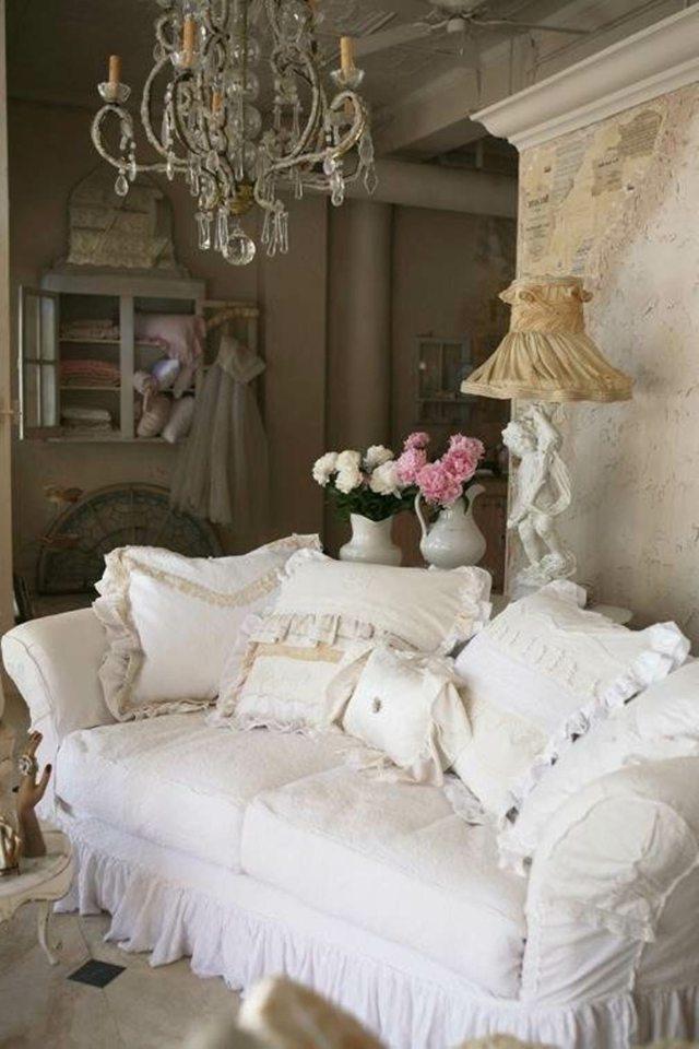 Wohnzimmereinrichtung im Shabby Chic Stil  55 Beispiele