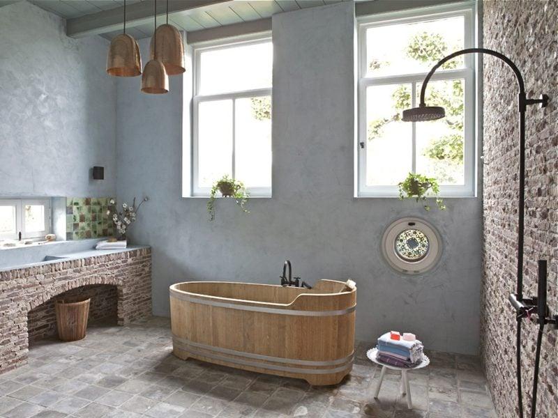 Badezimmer einrichten im rustikalen Landhausstil