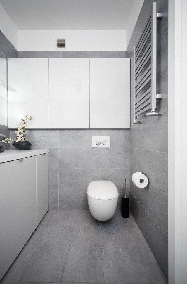 Modernes Badezimmer Grau