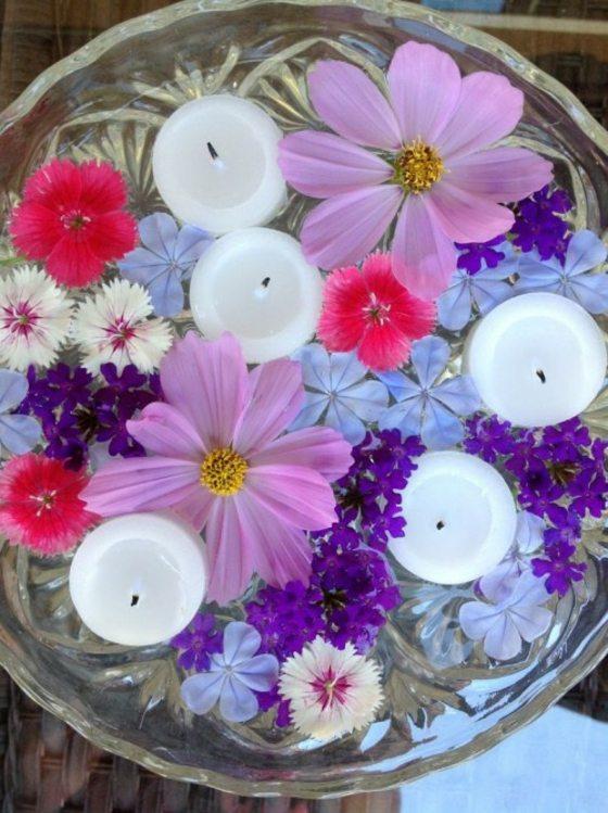 Blumendeko fr Hochzeit 33 hinreiende Ideen fr schwimmende Blten