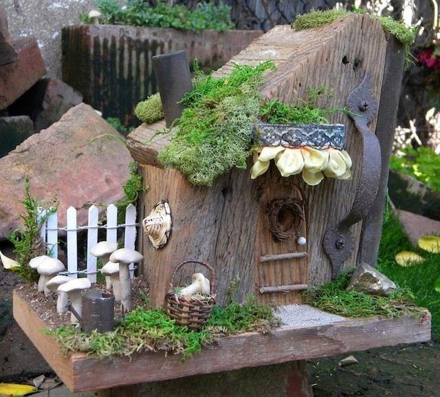Gartenideen fr kleine Grten  Deko mit ZauberwaldThema