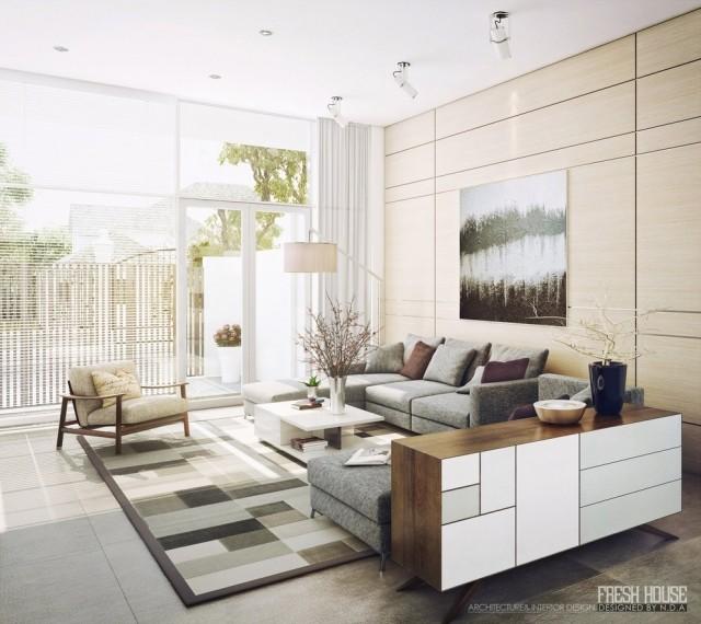 farbe grau holz moderne wohnung farbe grau und holz wirken ... - Einrichten Mit Grau Holz Alexandra Fedorova