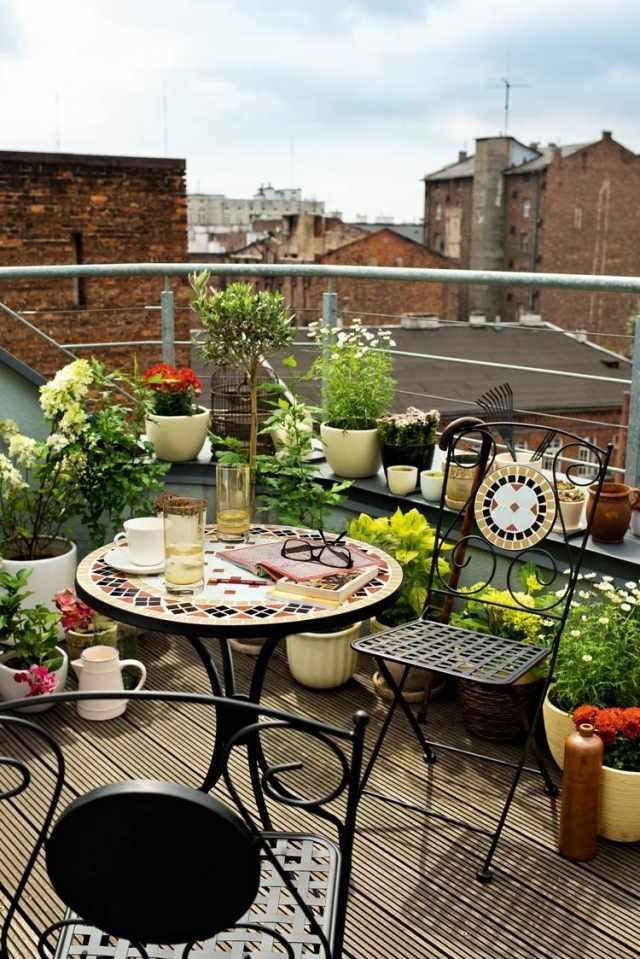 balkongestaltung dekoration schone pflanzen - boisholz, Gartengerate ideen