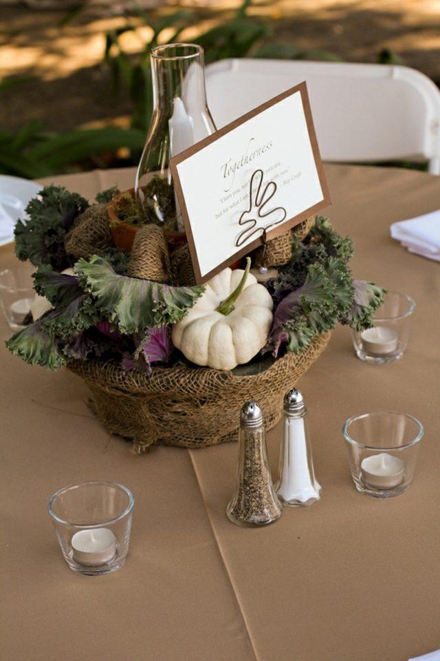 Herbst Tischdekoration fr die Hochzeit  25 hbsche Ideen