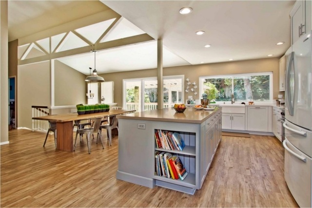 Open Kitchen Floor Plans Islands
