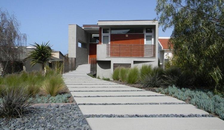 100 Vorgartengestaltung Beispiele im minimalistischen Stil