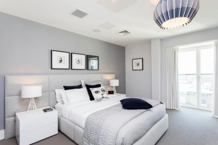 Wandfarbe Grau im Schlafzimmer  77 Ideen fr