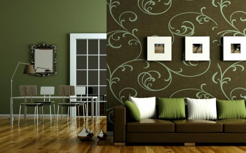 Wohnzimmer ideen braune couch  Verwirrend Bilder Braune Couch Welche Kissen Ideen - Wohndesign