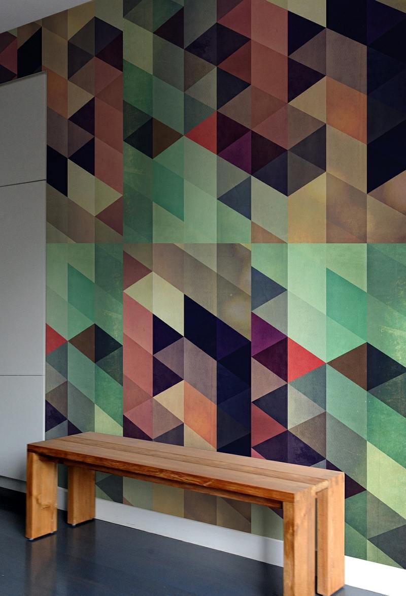 Wandmuster Ideen  Geometrische Formen streichen