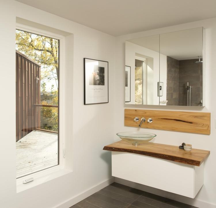 Waschtisch Holz fr Aufsatzwaschbecken bauen  Von modern