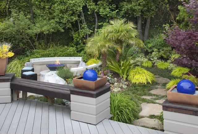 feuer und wasser im garten eine gemutliche kombination bitmoon, Garten und Bauten