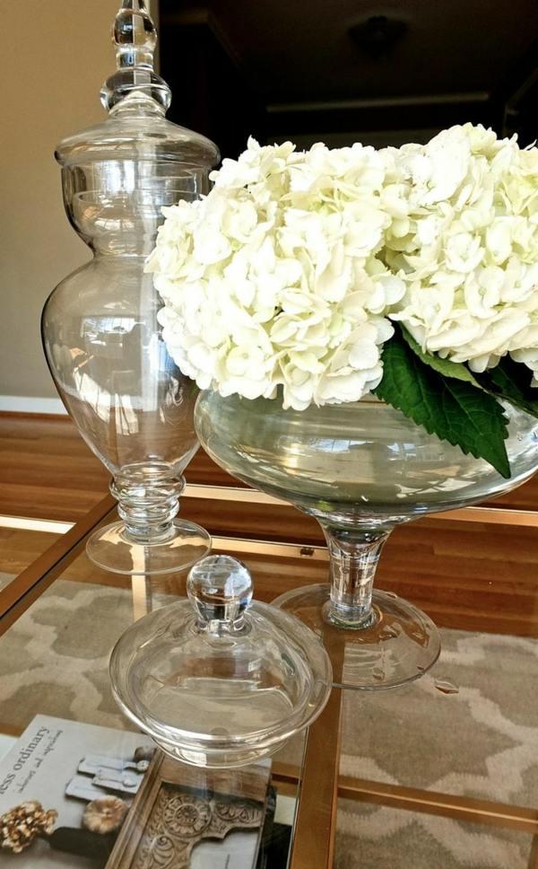 Blumen Dekoration in hbschen Glasschalen selber machen