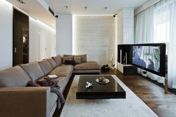 farbgestaltung wohnzimmer wei e wande steinwand - boisholz