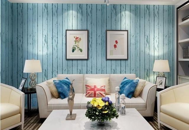 Tapete in Holzoptik zaubert pure Gemtlichkeit im Raum