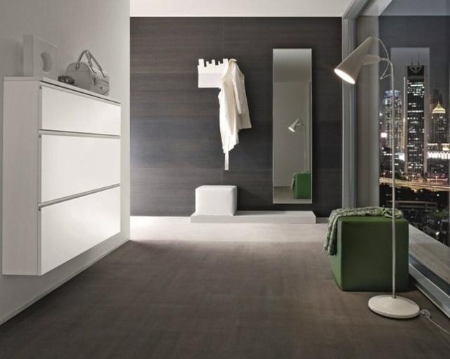 Schmale Garderobe im Flur spart Platz  26 Designs von Birex