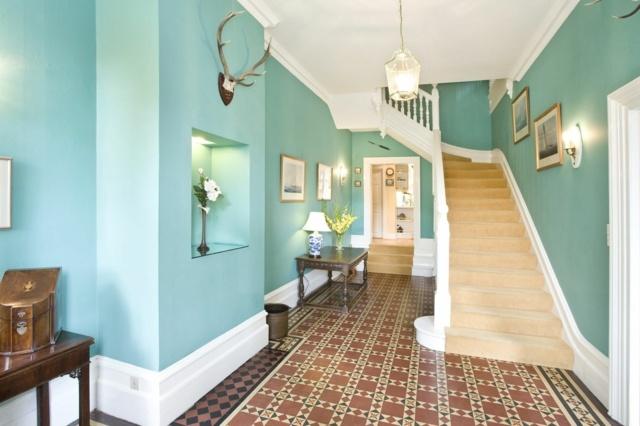 30 coole Wohnideen fr Flur  Gestaltung mit Farbe