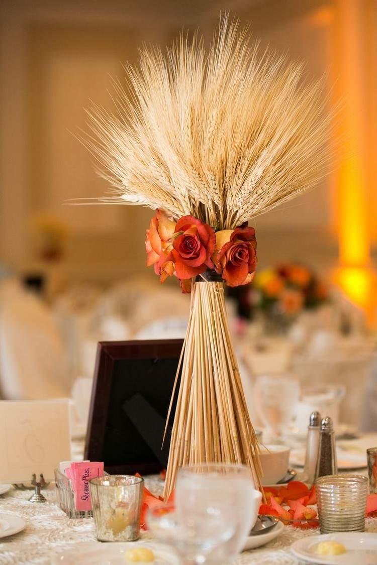 Herbstdeko fr den Tisch  glanzvoll und elegant