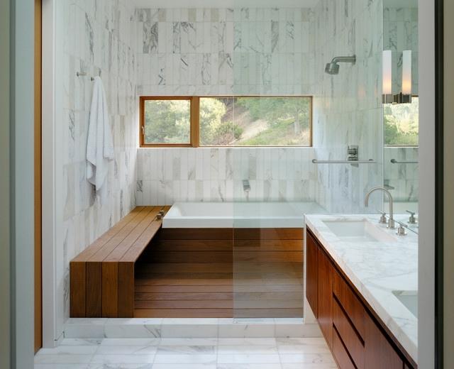 26 Bilder von Badezimmern mit Akzenten aus Holz