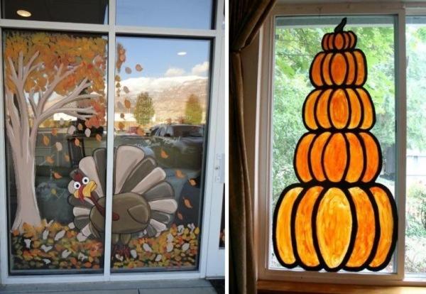 Mit Kindern Fensterbilder Im Herbst Basteln Und Malen