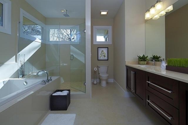 badezimmer streichen beige walkin dusche badewanne