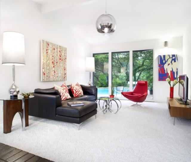 Farbgestaltung Wohnzimmer Rot ~ Inspirierende Bilder Von ... Wohnzimmer Rot Braun
