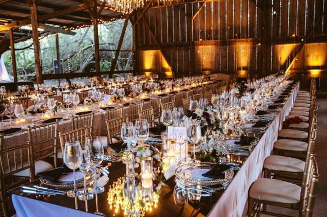 Hochzeitsdeko am Tisch  30 Ideen fr Party in der Scheune