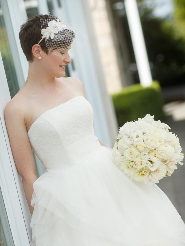 Hbsch verzierte Hochzeitsfrisuren fr kurze Haare