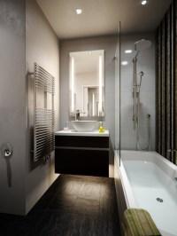 Kleine Bder mit Badewanne und Dusche einrichten - 32 Ideen