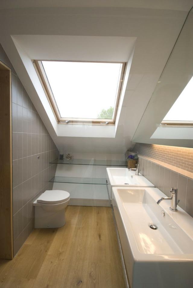 Kleines Bad Mit Dachschräge   Dachschräge Gestalten ...