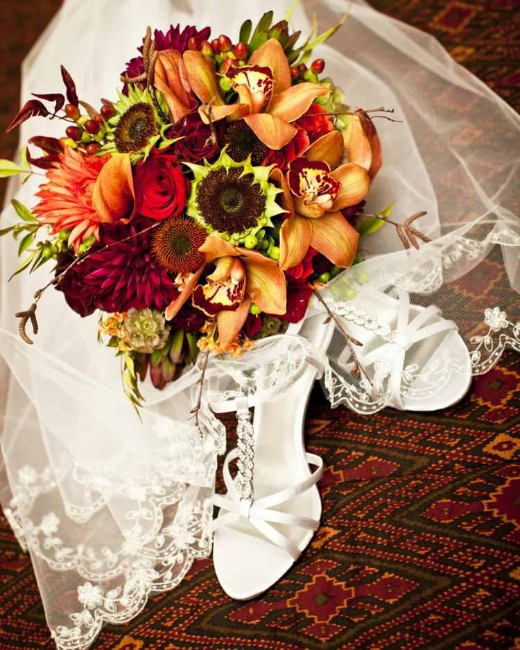 Herbst Brautstrau  Ideen in herbstlichen Farben  Motiven