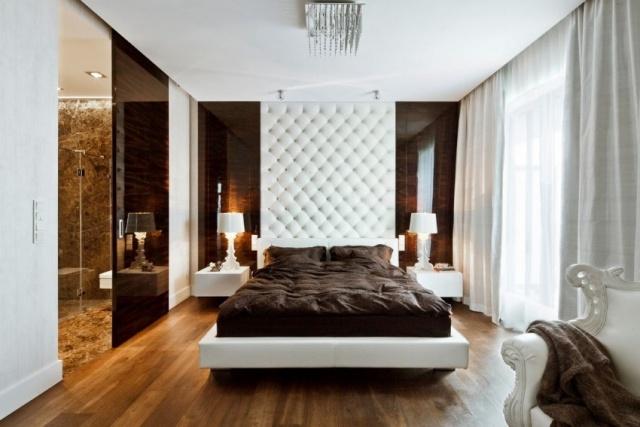 schlafzimmer modern gestalten neutrale farben wei creme holzboden ... - Schlafzimmer Modern Luxus